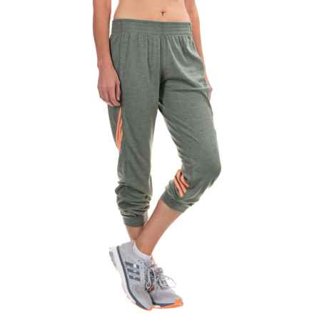adidas outdoor 2love 7/8 Pants (For Women) in Base Green/Colored Heather/Flash Orange - Closeouts