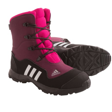 adidas outdoor Adisnow II PrimaLoft® Boots - Waterproof, Insulated (For Big Kids) in Amazon Red/Tech Grey/Vivid Berry