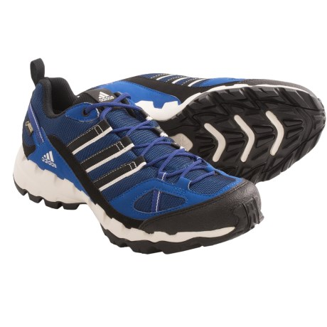 Adidas Outdoor AX 1 Gore-Tex® Trail Shoes - Waterproof (For Men) in Blue Beauty/Black/Herink