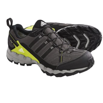 Adidas Outdoor AX 1 Gore-Tex® Trail Shoes - Waterproof (For Men) in Dark Cinder/Black/Lab Lime