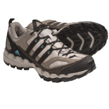 Adidas Outdoor AX 1 Lea Trail Running Shoes - Leather (For Women) in Collegiate Silver/Black/Clear Blue - Closeouts