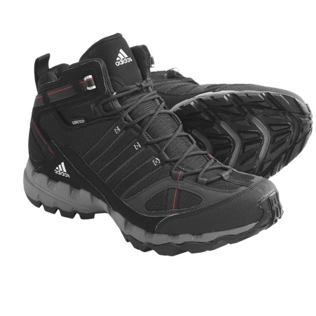 Adidas Outdoor AX 1 Mid Gore-Tex® Hiking Boots - Waterproof (For Men) in Dark Shale/Black1/Core Energy
