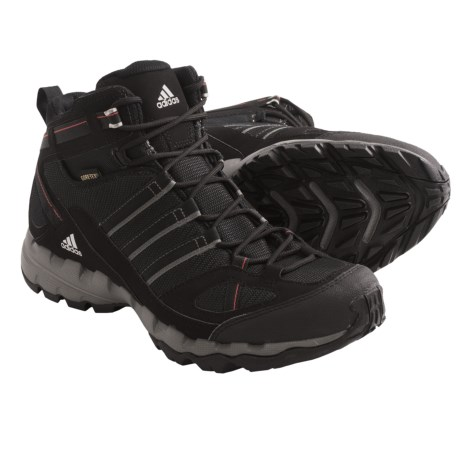 Adidas Outdoor AX 1 Mid Gore-Tex® Hiking Boots - Waterproof (For Men) in Solid Grey/Black/Vivid Red