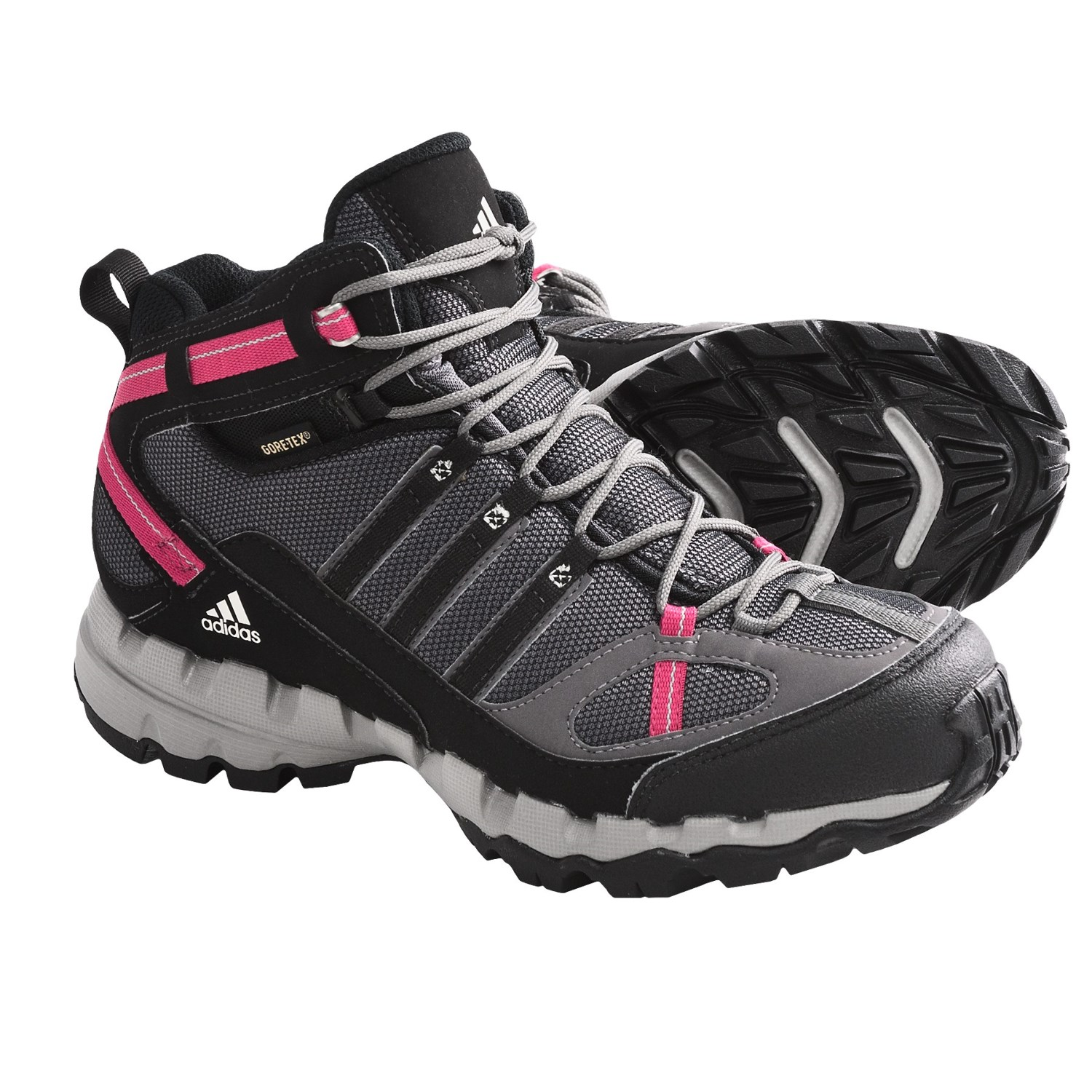 Hiking Boots - Waterproof (For Women) in Sharp Grey/Black/Bright Pink