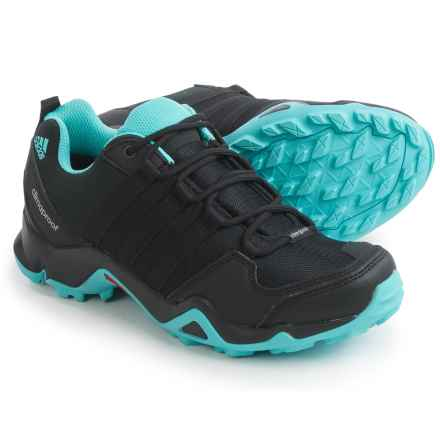 adidas outdoor AX2 ClimaProof® Hiking Shoes - Waterproof (For Women) in Black/Black/Easy Mint - Closeouts