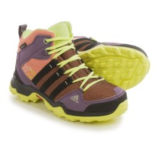 adidas outdoor AX2 Mid CP Hiking Boots - Waterproof (For Little and Big Kids) in Raw Pink/Black/Frozen Yellow - Closeouts