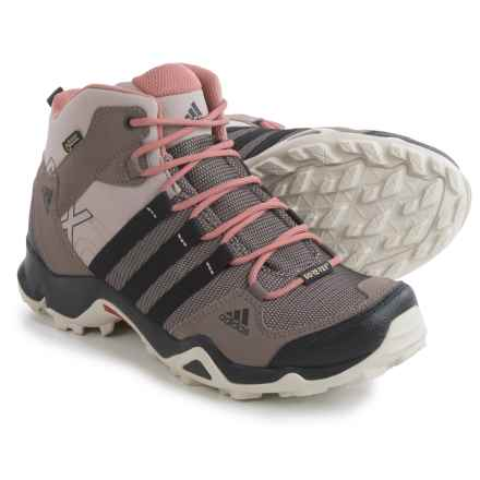 adidas outdoor AX2 Mid Gore-Tex® Hiking Boots - Waterproof (For Women) in Vapour Grey/Black/Raw Pink - Closeouts