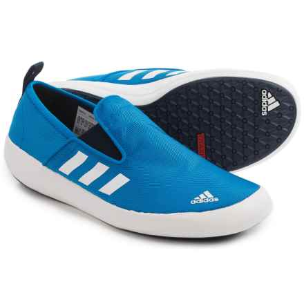 adidas outdoor Boat DLX Water Shoes - Slip-Ons (For Men) in Shock Blue/White/Collegiate Navy - Closeouts