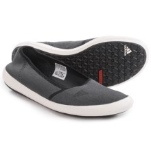 adidas Outdoor Boat Sleek Water Shoes - Slip-Ons (For Women) in Dark Grey Heatherr/Chalk White/Black - Closeouts