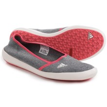 Adidas Outdoor Boat Sleek Water Shoes - Slip-Ons (For Women) in Medium Grey Heather/Chalk White/Super Blush - Closeouts