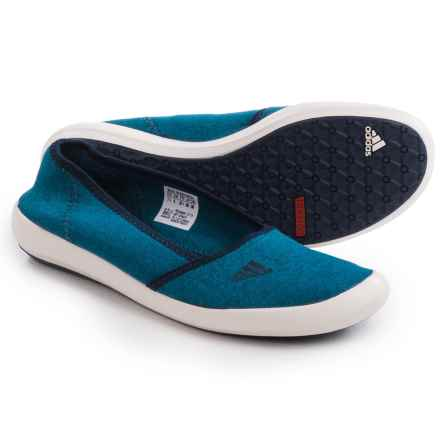 adidas outdoor Boat Sleek Water Shoes - Slip-Ons (For Women) in Shock Blue/Collegiate Navy/Chalk White - Closeouts