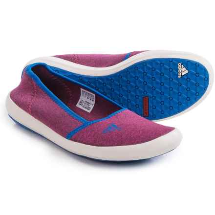 adidas outdoor Boat Sleek Water Shoes - Slip-Ons (For Women) in Super Blush/Chalk White/Shock Blue - Closeouts