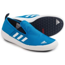 adidas outdoor Boat Slip-On DLX Water Shoes (For Men) in Shock Blue/White/Collegiate Navy - Closeouts