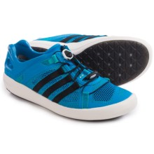 adidas Outdoor Climacool Boat Breeze Water Shoes (For Men) in Shock Blue/Core Black/Shock Green - Closeouts