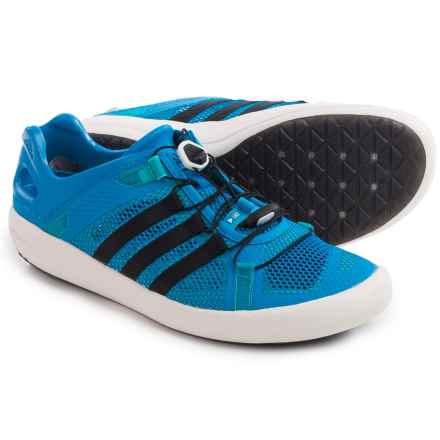 adidas outdoor ClimaCool® Boat Breeze Water Shoes (For Men) in Shock Blue/Core Black/Shock Green - Closeouts