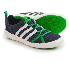 adidas outdoor Climacool Boat Lace Water Shoes (For Men) in Midnight Grey/Chalk White/Signal Green - Closeouts