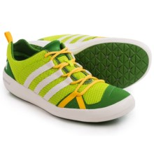 adidas outdoor Climacool Boat Lace Water Shoes (For Men) in Semi Solar Slime/Chalk White/Raw Lime - Closeouts