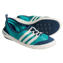 adidas outdoor Climacool Boat Sleek Water Shoes (For Women) in Vivid Mint/Chalk White/Vista Blue - Closeouts