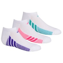 adidas outdoor ClimaCool® Cushioned Socks - 3-Pack, Below the Ankle (For Big Girls) in White/Solar Pink, White/Night Flash, White/Mint - Closeouts
