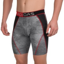 adidas outdoor ClimaCool® Graphic Midway Boxer Briefs (For Men) in Light Onix/Solid Red/Black - Closeouts