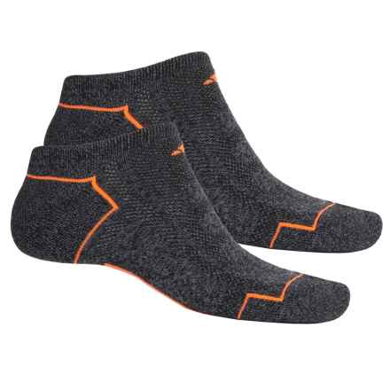 adidas outdoor ClimaCool® II No-Show Socks - 2-Pack, Below the Ankle (For Men) in Black-Onix Marl/Solar Orange/Grey - Closeouts