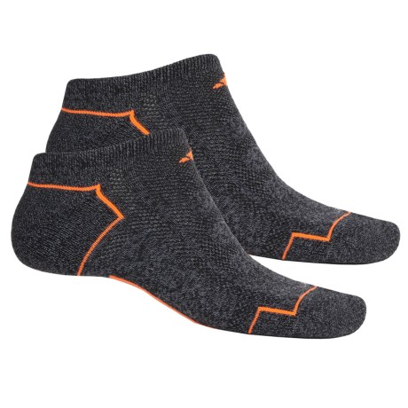 adidas outdoor ClimaCool® II No-Show Socks - 2-Pack, Below the Ankle (For Men) in Black-Onix Marl/Solar Orange/Grey