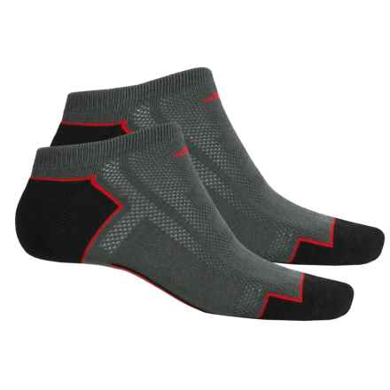 adidas outdoor ClimaCool® II No-Show Socks - 2-Pack, Below the Ankle (For Men) in Graphite/Black/Light Scarlet - Closeouts