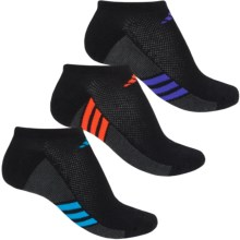 adidas outdoor ClimaCool® Superlite No-Show Socks - 3-Pack, Below the Ankle (For Women) in Black/Solar Blue/Night Flash/Solar Red - Closeouts