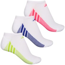 adidas outdoor ClimaCool® Superlite No-Show Socks - 3-Pack, Below the Ankle (For Women) in White/Night Flash/Semi Solar Yellow/Flash Red - Closeouts