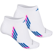 adidas outdoor ClimaCool® X III No-Show Socks - Below the Ankle, 2-Pack (For Women) in White/Blue/Shock Pink/Grey - Closeouts