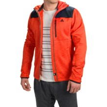 adidas outdoor ClimaHeat® Fleece Hoodie - Full Zip (For Men) in Bold Orange - Closeouts