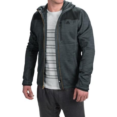 adidas outdoor ClimaHeat® Fleece Hoodie - Full Zip (For Men) in Dark Grey Heather