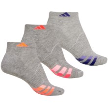 adidas outdoor ClimaLite® Cushioned Low-Cut Socks - 3-Pack, Ankle (For Women) in Heathered Gray/Flash Orange/Night Flash/Flash Red - Closeouts