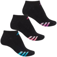 adidas outdoor ClimaLite® Cushioned No-Show Socks - 3-Pack, Below the Ankle (For Women) in Black/Solar Blue/Flash Pink/Solar Pink - Closeouts