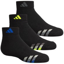 adidas outdoor ClimaLite® Cushioned Socks - 3-Pack, Ankle (For Big Kids) in Black/Bold Blue, Black/Grey, Black/Yellow - Closeouts