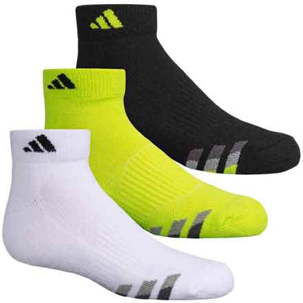 adidas outdoor ClimaLite® Cushioned Socks - 3-Pack, Ankle (For Big Kids) in Solar Yellow/Black White/Black Black/Solar Yellow - Closeouts