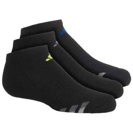 adidas outdoor ClimaLite® Cushioned Socks - 3-Pack, Below the Ankle (For Big Kids) in Black/Bold Blue, Black/Light Onix, Black/Yellow - Closeouts