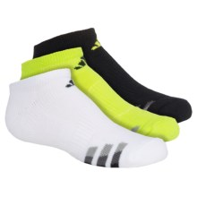 adidas outdoor ClimaLite® Cushioned Socks - 3-Pack, Below the Ankle (For Big Kids) in Yellow/Black, White/Black, Black/Yellow - Closeouts