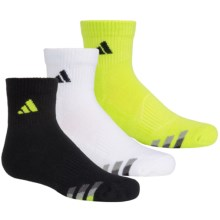 adidas outdoor ClimaLite® Cushioned Socks - 3-Pack, Quarter Crew (For Big Kids) in Yellow/Black, White/Black, Black/Yellow - Closeouts