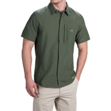 adidas outdoor ClimaLite® Hiking Wick Shirt - UPF 25, Short Sleeve (For Men) in Base Green - Closeouts