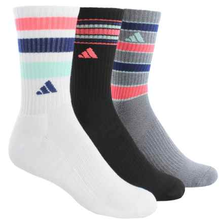 adidas outdoor ClimaLite® Retro II Socks - 3-Pack, Quarter Crew (For Women) in Black/Heather Grey/Blue/Pink Glow/White - Closeouts