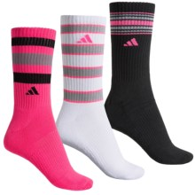 adidas outdoor ClimaLite® Retro II Socks - 3-Pack, Quarter Crew (For Women) in Solar Pink/Black/White/Light Onix - Closeouts