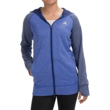 adidas outdoor ClimaWarm® Ultimate Hoodie - Full Zip (For Women) in Bold Blue/Midnight Indigo - Closeouts