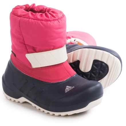 adidas outdoor ClimaWarm® Winterfun Snow Boots - Insulated (For Little and Big Girls) in Super Pink/Midnight Grey/White - Closeouts