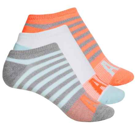adidas outdoor Cushioned No-Show Socks - 3-Pack, Below the Ankle (For Big Girls) in Grey-Clear Onix Marl/Ice Blue/Sun Glow/White - Closeouts