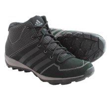 adidas outdoor Daroga Plus Mid Leather Lace Shoes (For Men) in Black/Granite/Night Metallic - Closeouts