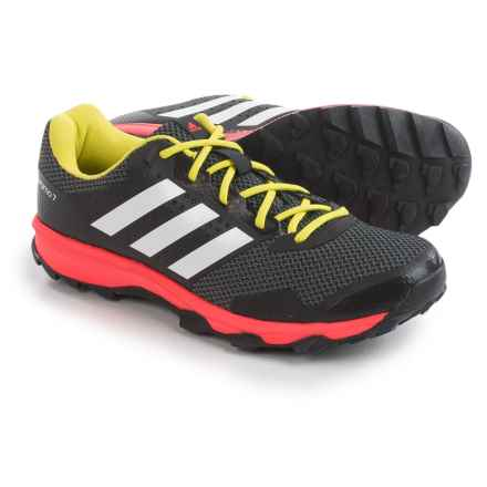 adidas outdoor Duramo 7 Trail Running Shoes (For Men) in Black/White/Solar Red - Closeouts