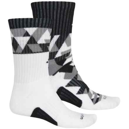 adidas outdoor Energy Camo Socks - 2-Pack, Crew (For Big Kids) in White/Black/Grey - Closeouts