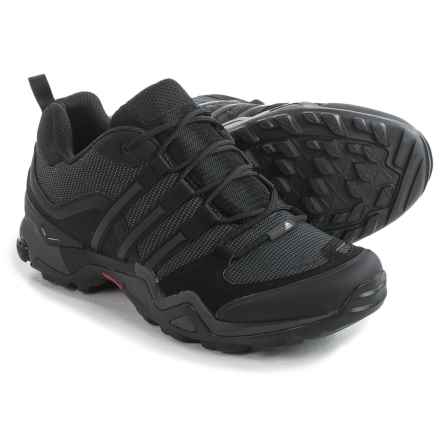 adidas outdoor Fast X Hiking Shoes (For Men) in Black/Dark Grey/Power Red - Closeouts