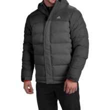 adidas outdoor Frostheld ClimaHeat® Down Jacket - 700 Fill Power (For Men) in Black/Dark Grey - Closeouts